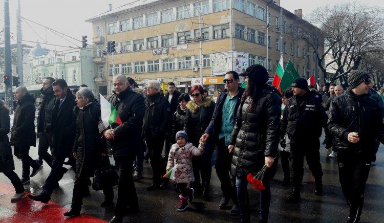 """Социалисти от Стара Загора участваха в паметното шествие под наслов """"За Свободата… Да развеем българското знаме!"""""""